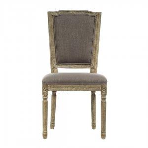 Ξύλινη καρέκλα με γκρι ύφασμα 50x54x99 εκ