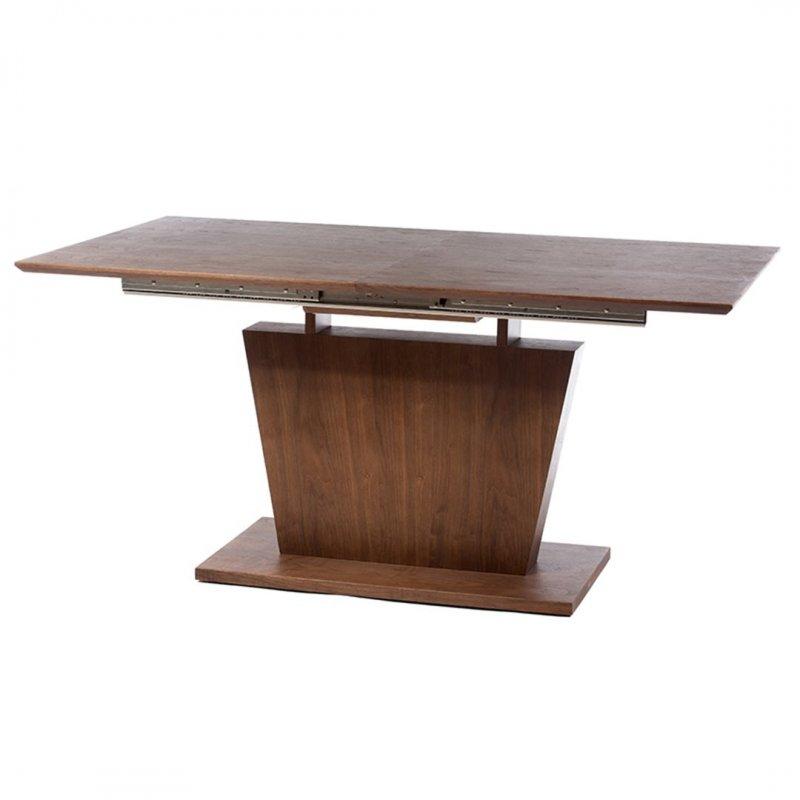 Τραπέζι τραπεζαρίας ξύλινο ανοιγόμενο σε καφέ χρώμα 160x90x77 εκ