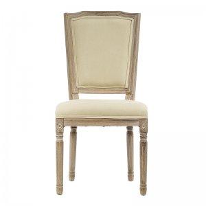 Αντικέ καρέκλα υφασμάτινη με ξύλο σε μπεζ απόχρωση 50x54x9