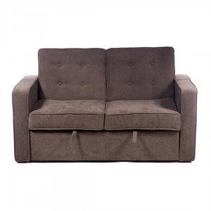 Διθέσιος καφέ υφασμάτινος καναπές που γίνεται κρ&e