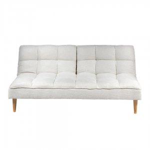 Λευκός ξύλινος καναπές κρεβάτι 181x100x82 εκ