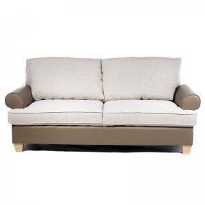 Καναπές τριθέσιος δίχρωμος pp και ύφασμα 201x85x90 εκ