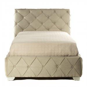 Κρεβάτι glam μονό καπιτονέ με ύφασμα 100x200 εκ