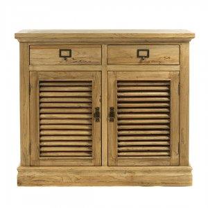 Μασίφ ξύλινος μπουφές με δύο ντουλάπια και συρτάρι&al