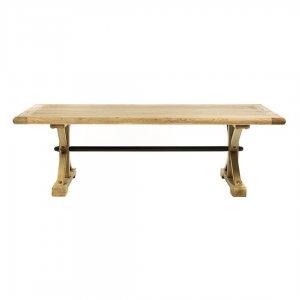 Ethnic ξύλινο τραπέζι σαλονιού με καφέ πατίνα 80x80x48 εκ