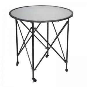Μεταλλικό τραπέζι σαλονιού με ροδάκια Gilbert 75x75x76 εκ