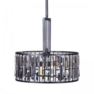 Φωτιστικό οροφής glam μεταλλικό μαύρο με κρυστάλλο&upsil