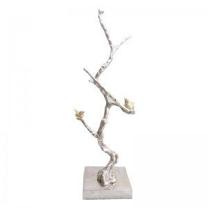Επιτραπέζιο διακοσμητικό Branch από μέταλλο σε ασημί χρώμ