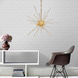 Φωτιστικό οροφής Estrella από μέταλλο χρυσαφί 82x82x74 εκ
