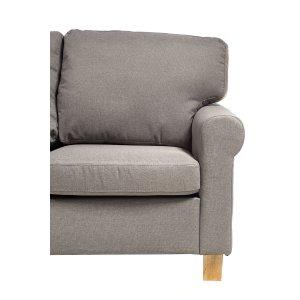 Καναπές τριθέσιος υφασμάτινος σε γκρι απόχρωση 190x80x86