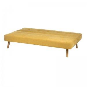 Κίτρινος καναπές κρεβάτι 180x90x80 εκ