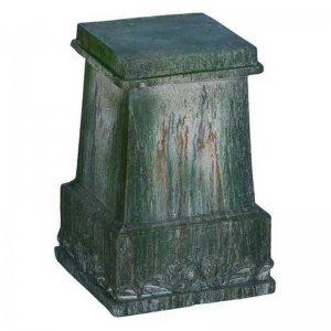 Βάση για κασπώ κεραμική σε πράσινο χρώμα 44x44x64 εκ