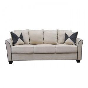 Ashley καναπές 3θέσιος με μπεζ ύφασμα 198x80x88 εκ.