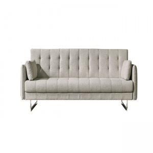 Rudy καναπές διθέσιος με ύφασμα στο χρώμα της άμμου