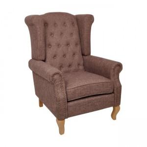 Rosy πολυθρόνα ύφασμα καφέ
