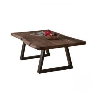 Lizard τραπέζι σαλονιού 115x65x40cm ακακία καρυδί μέταλλο μαύρο