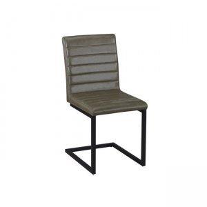 Alto καρέκλα μεταλλική μαύρη με ύφασμα vintage green
