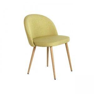 Bella καρέκλα μεταλλική με βαφή φυσικό με ύφασμα lime