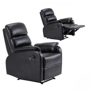 Comfort πολυθρόνα relax pu μαύρο