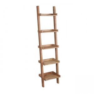 Ladder βιβλιοθήκη ραφιέρα 45x35x190cm ακακία φυσικό χρώμα