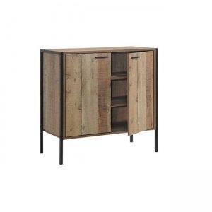 Pallet ντουλάπι παπουτσοθήκη 2 πόρτες 80x40x80 antique oak