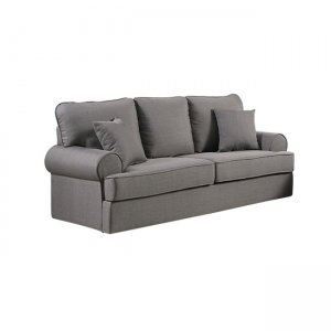 Robinson 3θέσιος καναπές με ύφασμα γκρι