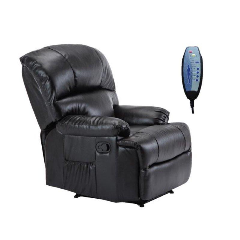 Space πολυθρόνα massage pu μαύρο | Echo Deco