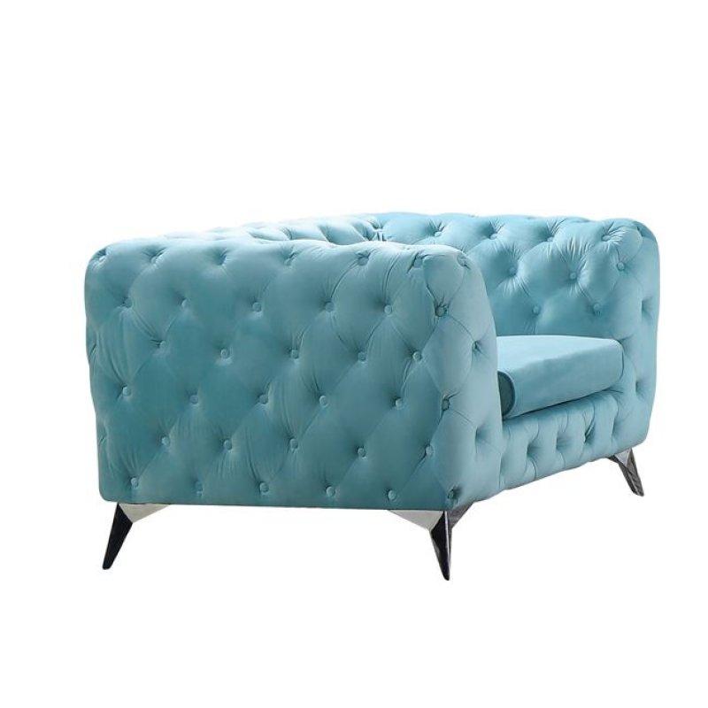 Barlow πολυθρόνα με ύφασμα powder blue velure