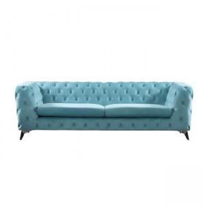 Barlow καναπές τριθέσιος με ύφασμα powder blue velure