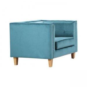 Midland πολυθρόνα με ύφασμα βαθύ γαλάζιο velure