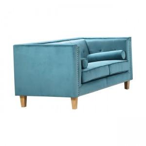 Midland καναπές διθέσιος με ύφασμα βαθύ γαλάζιο velure