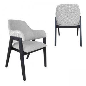 Μοντέρνα πολυθρόνα με πόδια μαύρου χρώματος και μπέζ ύ&