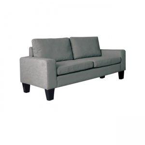 Sergio καναπές διθέσιος με ύφασμα ανθρακί