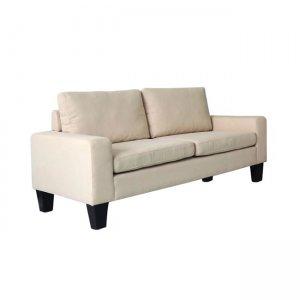 Sergio καναπές διθέσιος με ύφασμα μπεζ