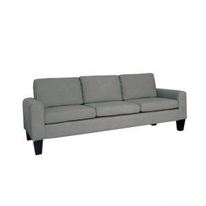 Sergio καναπές τριθέσιος με ύφασμα ανθρακί