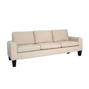 Sergio καναπές τριθέσιος με ύφασμα μπεζ