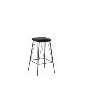 Μεταλλικό μαύρο με κάθισμα σε vintage μαύρο Panton σκαμπώ