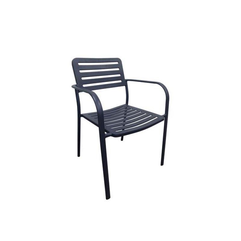 Μεταλλική Roma πολυθρόνα μαύρη 56x55x80εκ