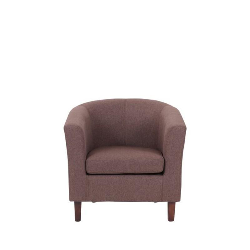Boga ρετρό πολυθρόνα με καφέ ύφασμα 75Χ73Χ69εκ
