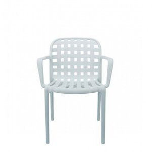 Denon pp πολυθρόνα με μπράτσο σε λευκό 58x57x82εκ