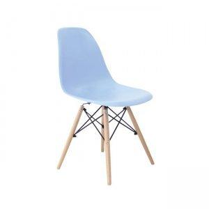 Art wood καρέκλα pp σιέλ με ξύλινα πόδια 46x52x82 εκ