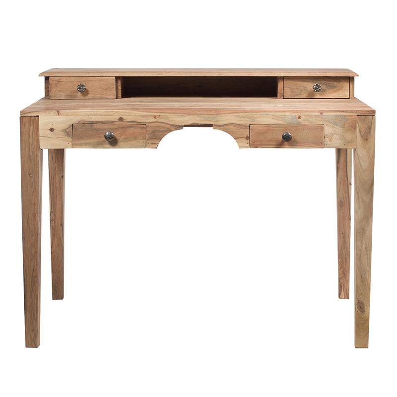 Ethnic ξύλινο γραφείο με βοηθητικά συρτάρια 110x70x86 εκ