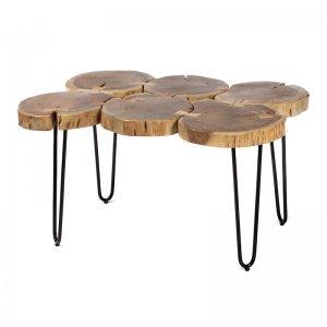 Industrial τραπέζι σαλονιού από ξύλο και μέταλλο 88x64x49 εκ