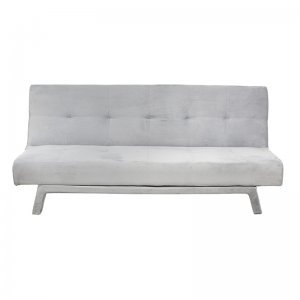 Γκρι βελούδινος καναπές κρεβάτι 180x90x80 εκ