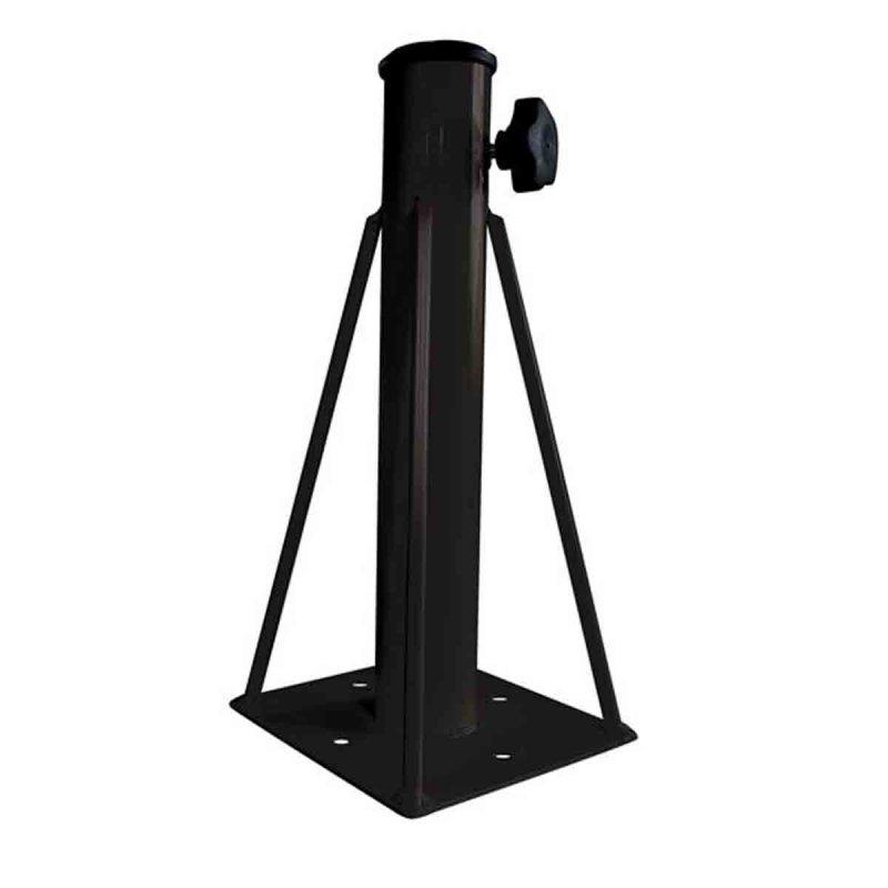 Βάση ομπρέλλας μεταλλική εδάφους μαύρη 17x17x36 εκ   Echo Deco