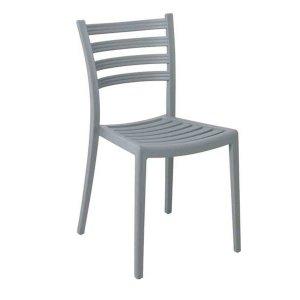 Genoa καρέκλα pp σε γκρι χρώμα 45x53x82 εκ