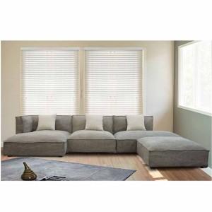 Καναπές γωνιακός Abert με δεξιά γωνία και με ύφασμα σε γκρι καφέ απόχρωση