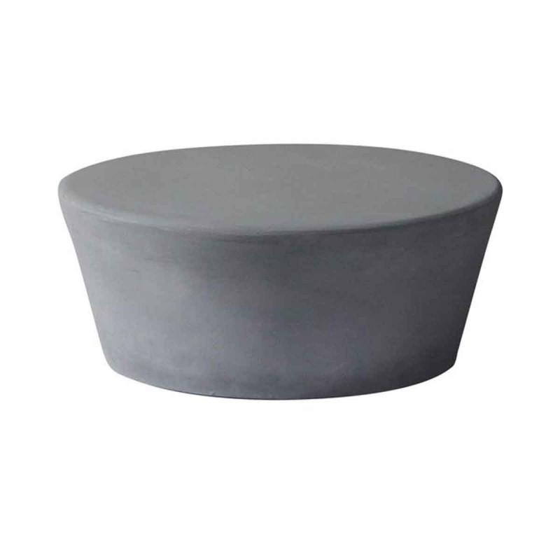 Τραπέζι Concrete σαλονιού στρογγυλό από τσιμέντο σε φυσικές αποχρώσεις 75x30 εκ