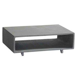 Τραπέζι σαλονιού Concrete από τσιμέντο τετράγωνο με αποθηκευτικό χώρο γκρι 75x50x20 εκ