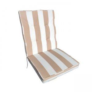 Gord υφασμάτινο μαξιλάρι χαμηλό ριγέ cappuccino 100x45 εκ